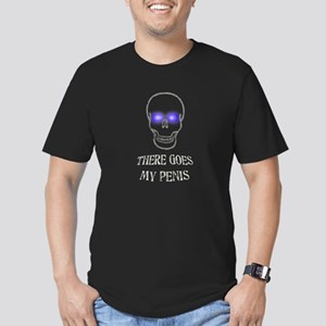 There Goes My Penis Men's Fitted T-Shirt (dark)