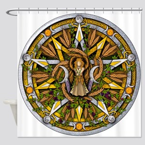 Lammas/Lughnasadh Pentacle Shower Curtain