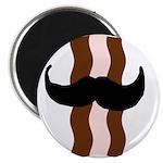 Moustache Bacon Magnet