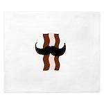 Moustache Bacon King Duvet