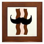 Moustache Bacon Framed Tile