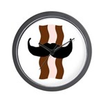 Moustache Bacon Wall Clock