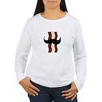 Moustache Bacon Women's Long Sleeve T-Shirt