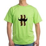 Moustache Bacon Green T-Shirt