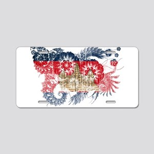 Cambodia Flag Aluminum License Plate