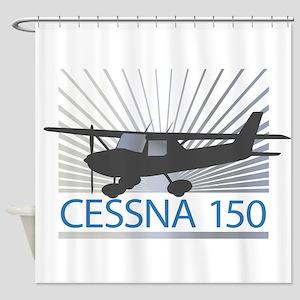Aircraft Cessna 150 Shower Curtain