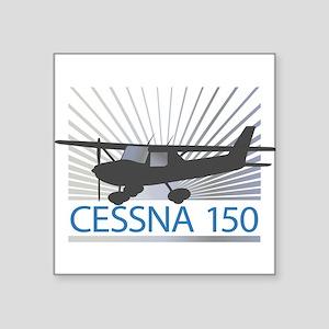 "Aircraft Cessna 150 Square Sticker 3"" x 3"""
