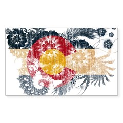 Colorado Flag Sticker (Rectangle 50 pk)