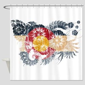 Colorado Flag Shower Curtain