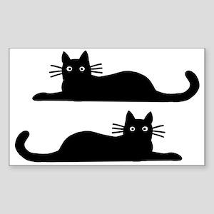 Black Cats Sticker (Rectangle)