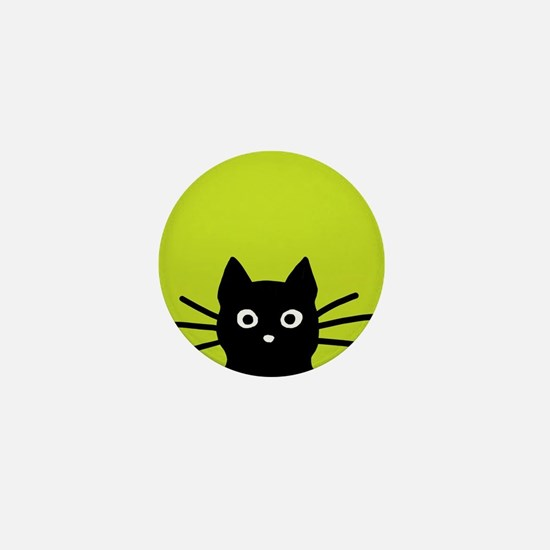 Black Cat Mini Button