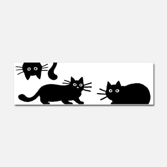 Black Cats Car Magnet 10 x 3