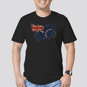 Cook Islands Flag Men's Fitted T-Shirt (dark)