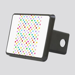 Rainbow Polka Dots Rectangular Hitch Cover