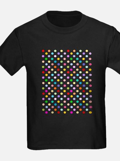 Rainbow Polka Dots T