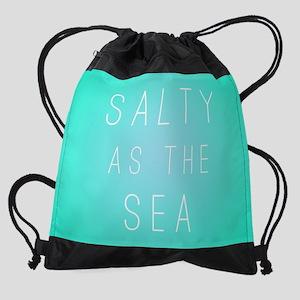 Salty As The Sea Drawstring Bag