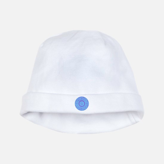 spiritual meditation mandala (aqua) baby hat