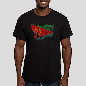 Eritrea Flag Men's Fitted T-Shirt (dark)