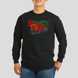 Eritrea Flag Long Sleeve Dark T-Shirt