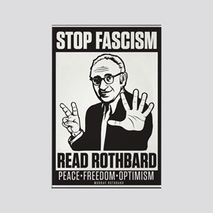 Rothbard_stopfascism-01 Rectangle Magnet