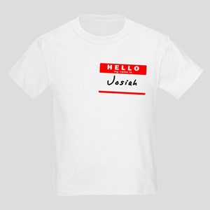 Josiah, Name Tag Sticker Kids Light T-Shirt