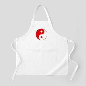 Red Yin Yang Apron