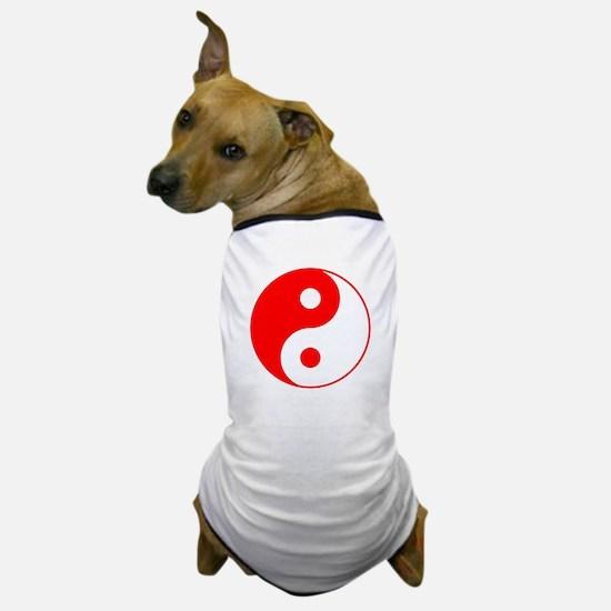 Red Yin Yang Dog T-Shirt