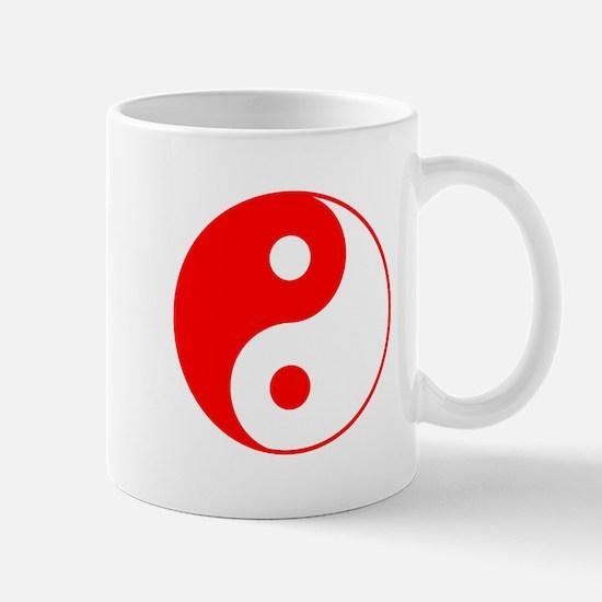 Red Yin Yang Mug
