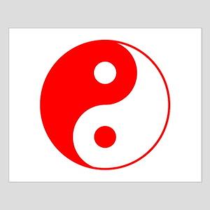 Red Yin Yang Small Poster