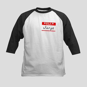 Jorge, Name Tag Sticker Kids Baseball Jersey