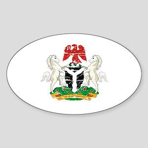 Nigeria designs Sticker (Oval)