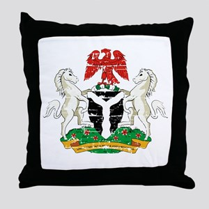 Nigeria designs Throw Pillow