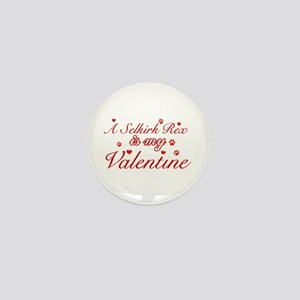 A Selkirk Rex is my valentine Mini Button