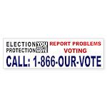 Election Protection - White Bumper Sticker