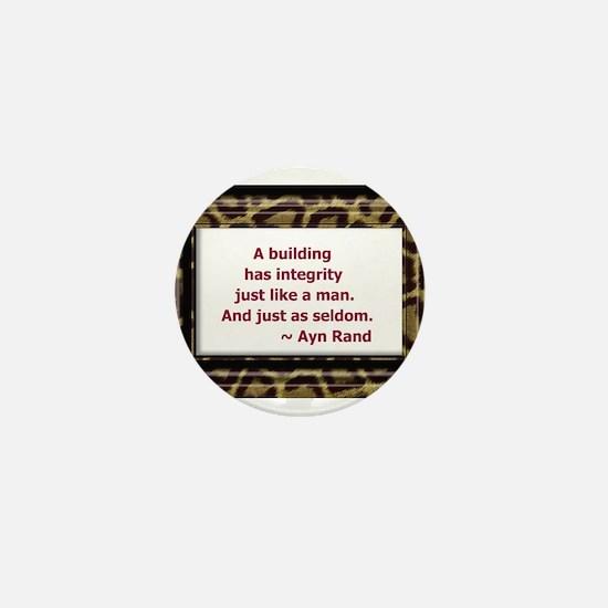 Ayn Rand Quote Mini Button