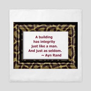Ayn Rand Quote Queen Duvet