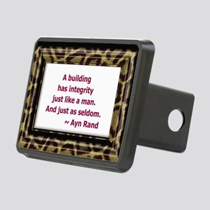 Ayn Rand Quote Rectangular Hitch Cover