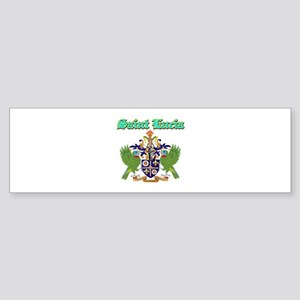 Saint Lucia designs Sticker (Bumper)