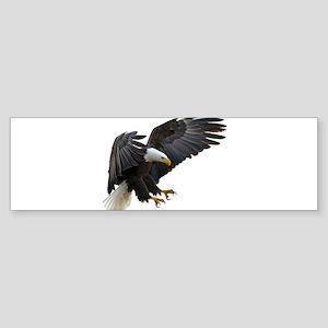 Bald Eagle Flying Bumper Sticker