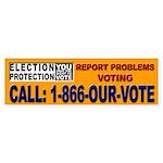 Election Protection - Orange Bumper Sticker
