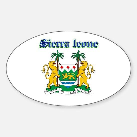 Sierra Leone designs Sticker (Oval)