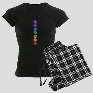 seven chakras vertical center Women's Dark Pajamas