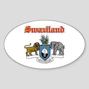 Swaziland designs Sticker (Oval)