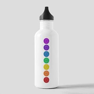 seven chakras vertical center Stainless Water Bott