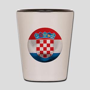 Croatia Football Shot Glass