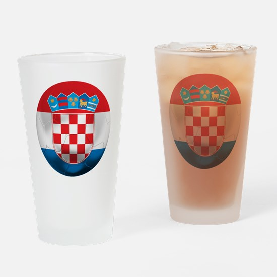 Croatia Football Drinking Glass