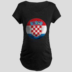 Croatia Football Maternity Dark T-Shirt