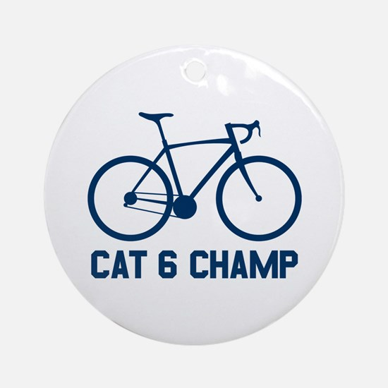 Cat 6 Champ Round Ornament