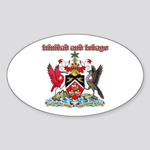 Trinidad And Tobago designs Sticker (Oval)