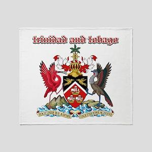 Trinidad And Tobago designs Throw Blanket